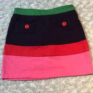 Gymboree color blocked cotton skirt